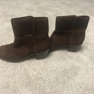 Chanel Brown Suede Boots - Size 41,5